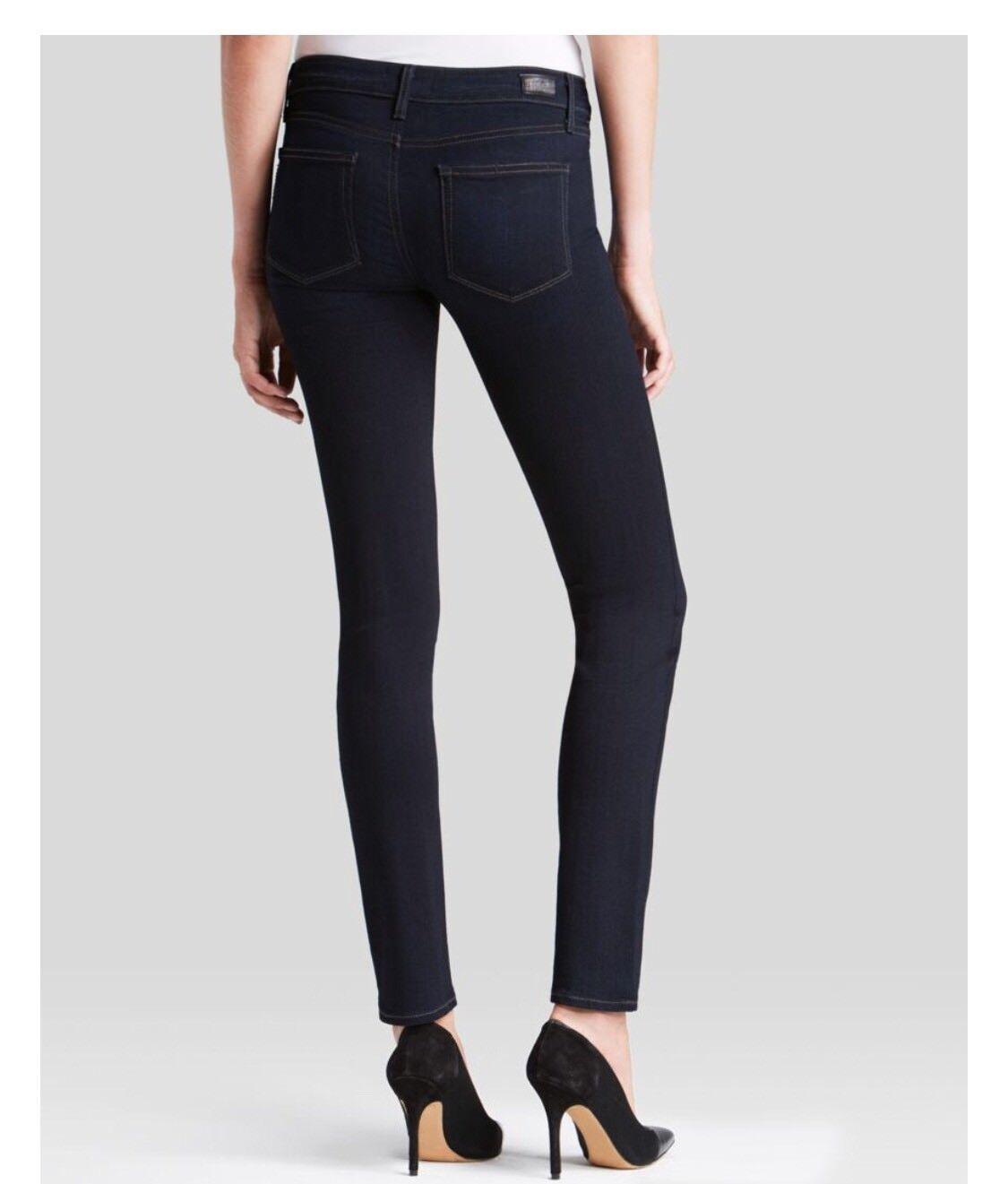 Brand New PAIGE Transcend Skyline Skinny Jeans In Mona Dark bluee Size