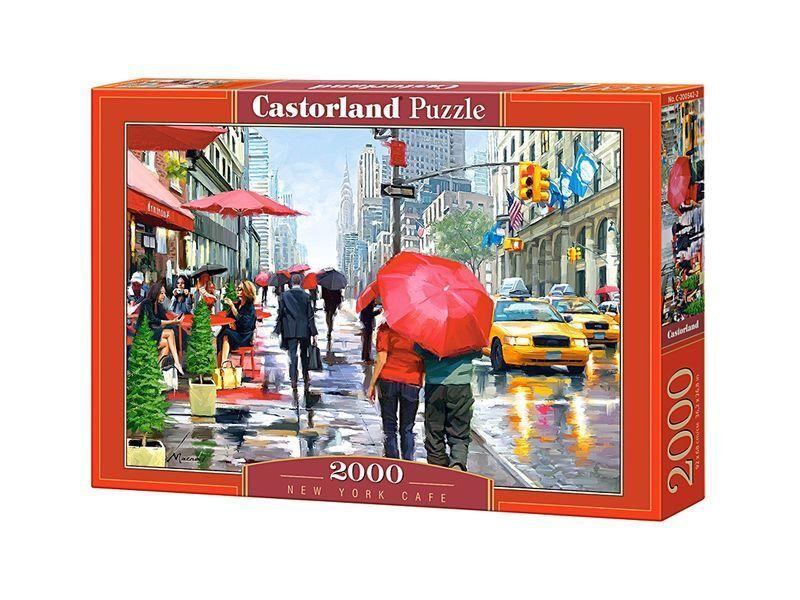 Castorland puzzle 2000 stck new york caf 92x68 cm 36  x27  versiegelte kiste c-200542