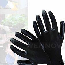Medium Black Rubber Coated Comfortable Flexible Breathable Work Glove