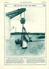 1917 Remounting Ship's Heavy Gun Ancient War-cars Illustration Belfry