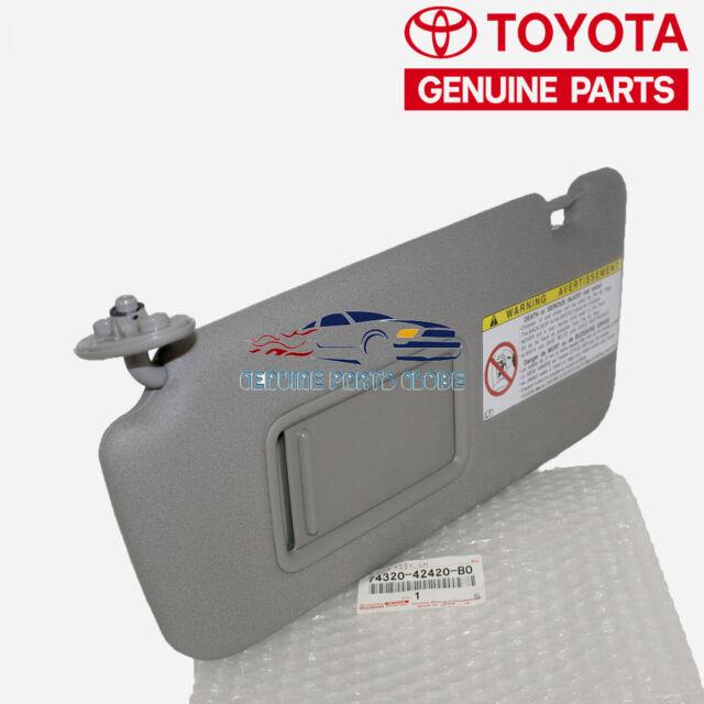Genuine Toyota RAV4 LH Left Sun Visor Driver Side Sunvisor OEM Gray Grey