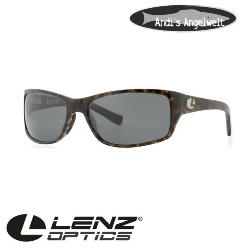 Lenz Optics Polbrille Laxa Acetate Sunglass Green//Coffee w//Grey Lens Art 49210