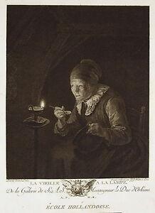 Gerrit-Dow-034-La-Old-At-Lamp-034-Engraving-J-J-J-Huber-Ed-Lying-1786