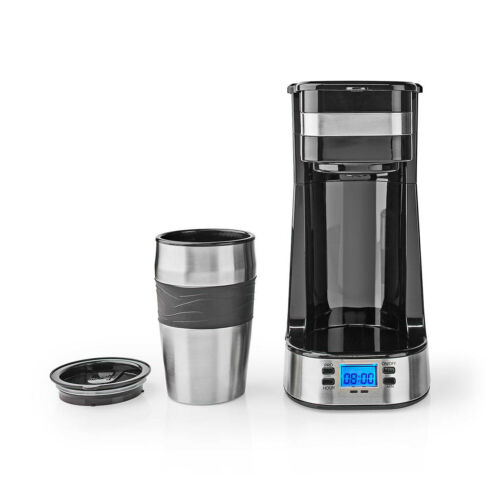 Single Serve 1 Cup Coffee Maker with Timer Auto Off Drip Stop   420ml Travel Mug
