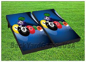 VINYL WRAPS Cornhole Boards DECALS Ball Billard Pool Table Game - Pool table wraps