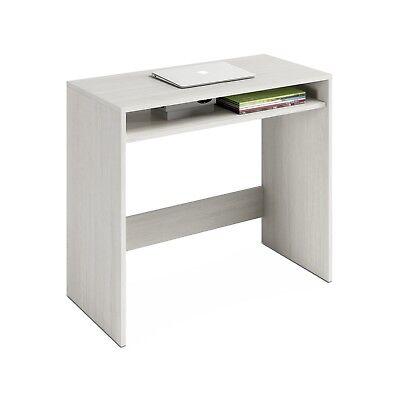 Mesa de escritorio juvenil, mesa para oficina despacho o estudio, Blanco Alpes