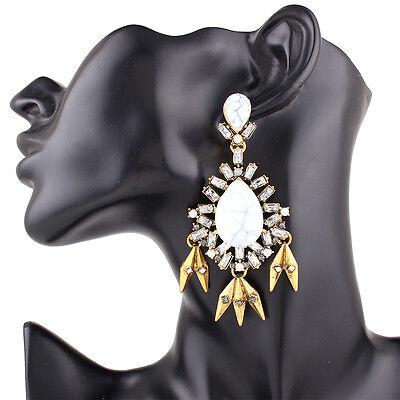 Fashion Beads Crystal Rhinestone Chandelier Long Tassel Drop Dangle Earrings