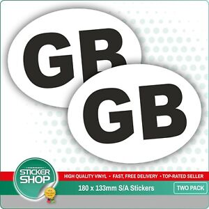 2 X Gb Euro Car Van Lorry Vinyl Self Adhesive Stickers Ebay