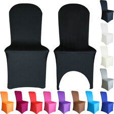 Chair Covers Spandex Lycra Slip Seat Cover Dining Wedding Banquet Party White