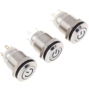 12MM-3V-Interruttore-a-Pulsante-Accensione-Automatico-DC250V-LED-Impermeabile