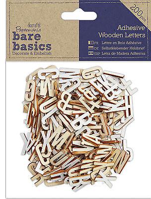 Docrafts Papermania craft wooden tile letters Bare basics 15mm alphabet tiles