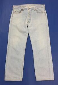 Levis-501-W36-tg-50-jeans-uomo-usato-vintage-made-in-usa-denim-boyfriend-T3378