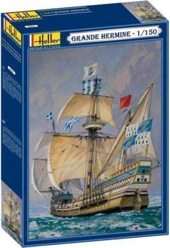 Heller 80814 1 150th scale La Grande Hermine ocean-going sailing ship