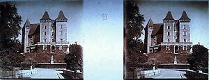 Stereoscopique-photographie-Facade-ouest-du-Chaateau-de-Pau-vers-1920
