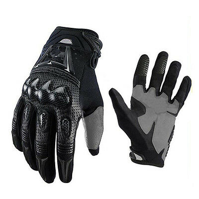 Out Sports Carbon Fiber Genuine leather Motorcycle Motocross Racing Bike Gloves