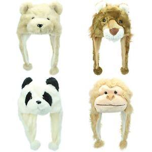 93ec4363082 Animal Hat Cap JIGLZ Character Lion Monkey Dog Panda Bear Girls Boys ...