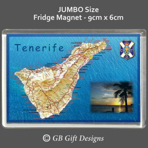 Spain canary islands Holiday Souvenir Jumbo  Fridge Magnet TENERIFE MAP