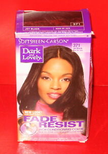 SoftSheen Carson Dark And Lovely Hair Color  371  Jet Black  EBay