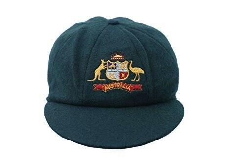 TRADITIONAL AUSTRALIA CRICKET CAP WOOL ELASTIC BACK ADULT ONE SIZE