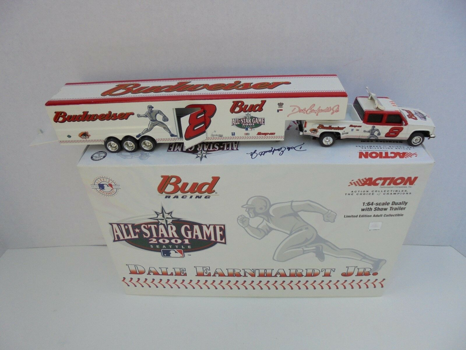 Dale Earnhardt Jr Bud Racing 2001 juego All Star Doble Remolque Nascar Diecast