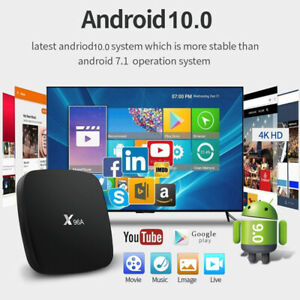 X96A Android 10.0 Dual Band Wifi TV Box 2GRAM+16GROM 3D 4K Smart Media Player--