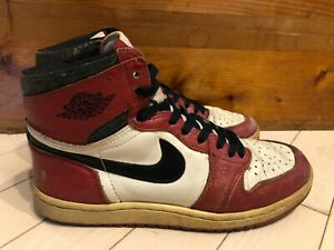 best sneakers 2c916 85a60 Details about 1985 Original Nike Air Jordan I 1 Red Black White Chicago OG  sz 9