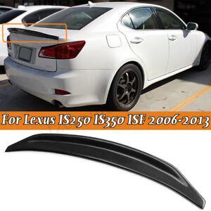 Carbon-Fiber-Rear-Trunk-Spoiler-For-Lexus-IS250-IS350-ISF-2006-2013-JDM