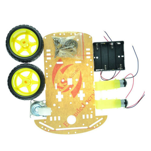 2Wd Smart Robot Car Chassis Kit/Speed Encoder Battery Box Arduino 2 Motor1:48 GN