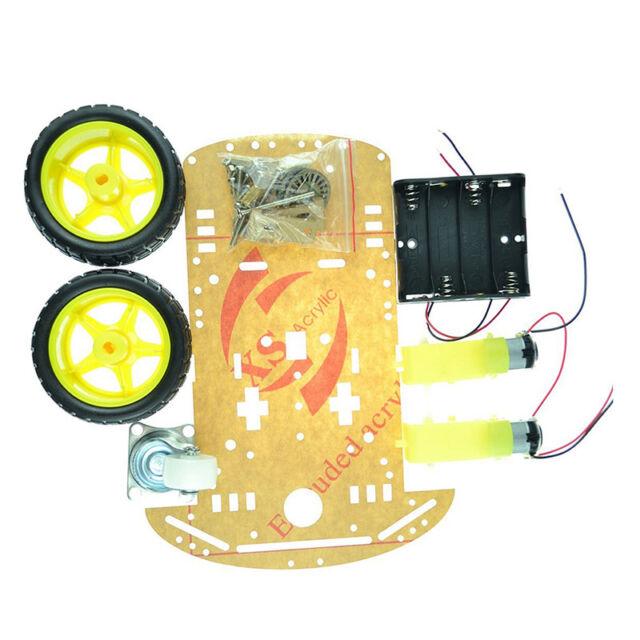 2WD Smart Robot Car Chassis Kit/Speed encoder Battery Box Arduino 2 motor&lJCAU