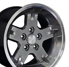 "15"" Wheels For Jeep Grand Cherokee Wrangler 15x8.0 Gunmetal 5x114.3 Rims Set"