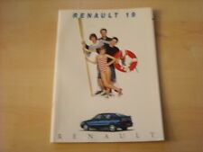 50670) Renault R 19 Phase II inkl. 16V 135PS Prospekt 08/1994