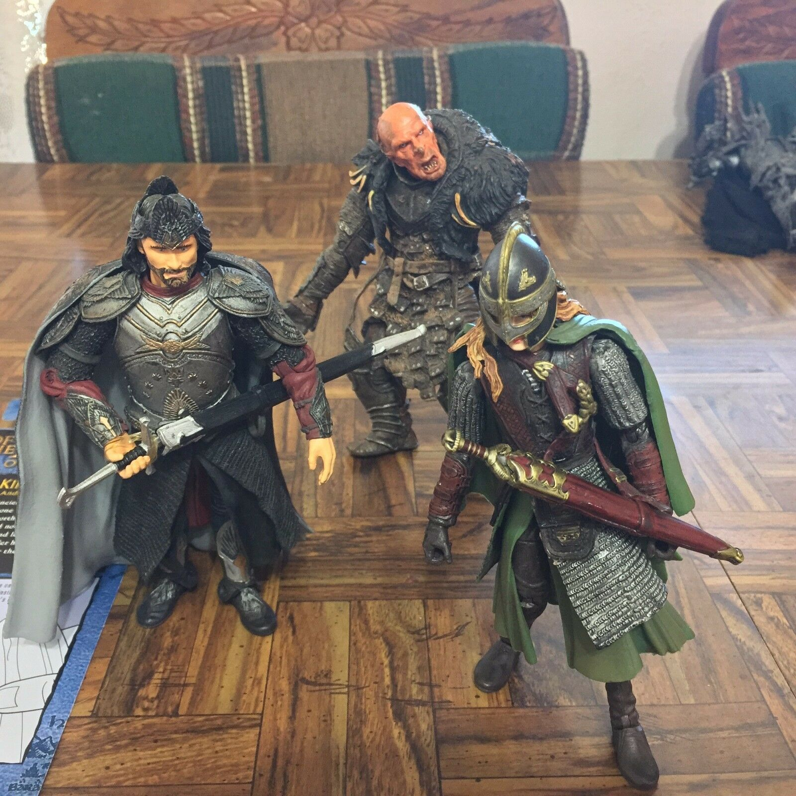 Toy Biz The Lord of the Rings redK Aragorn King Of Gondor + Orc + Eowyn Lot x3