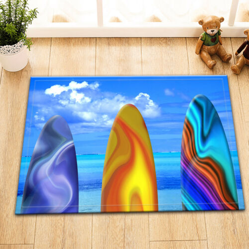 Colorful Surf Boards Shower Curtain Set Polyester Waterproof Fabric /& Hooks 71/'/'