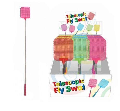 Télescopique Extensible Fly Swat Bug Swatter 70 cm quand Extended Cadeau Fantaisie