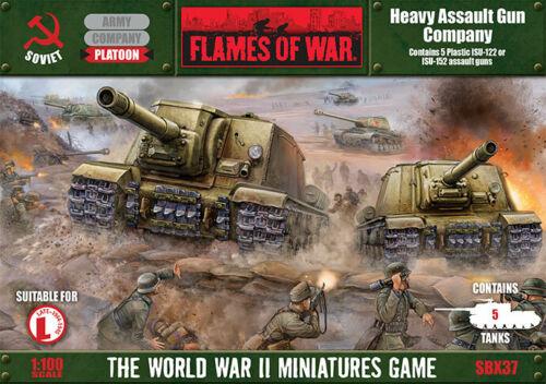 Soviet Heavy Assault Gun Company SBX37 Flames of War WWII Miniatures Game NIB