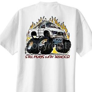 Safety Yellow Shirts >> Toyota Tacoma 4x4 Cartoon T-shirt #4084 dave deal off road pickup truck | eBay