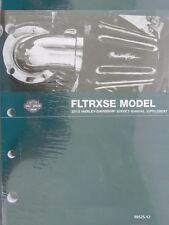 2012 Harley FLTRXSE CVO Road Glide Custom Service Manual Supplement 99525-12