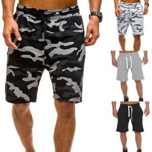 Homme-Short-Plage-Camouflage-Decontracte-Vacance-Sommeil-Pyjama-Sport-Pantalons