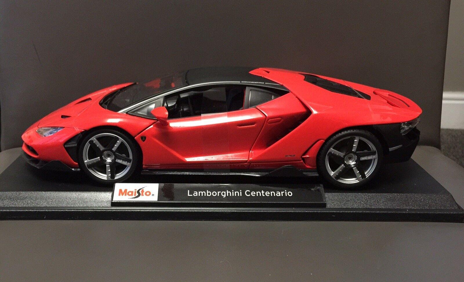 Maisto Lamborghini Centenario 1 18 18 18 Diecast Modelo Coche Nuevo y en caja 8a85d9