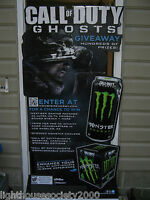 Call Of Duty Ghosts Monster Energy Drink Stand Up Gaming Sign Warfare 70  Tall