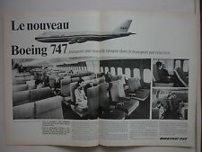 7/1966 PUB BOEING 747 AIRLINER PAN AM AIRLINE ORIGINAL FRENCH AD