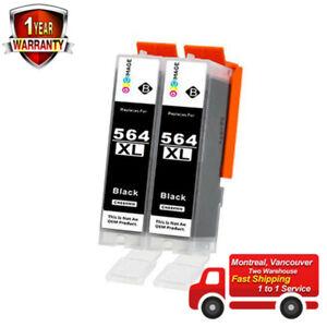 2PK-564XL-684WXL-CB321WN-Black-Ink-Cartridge-For-HP-5520-6512-7520-7525-C5324