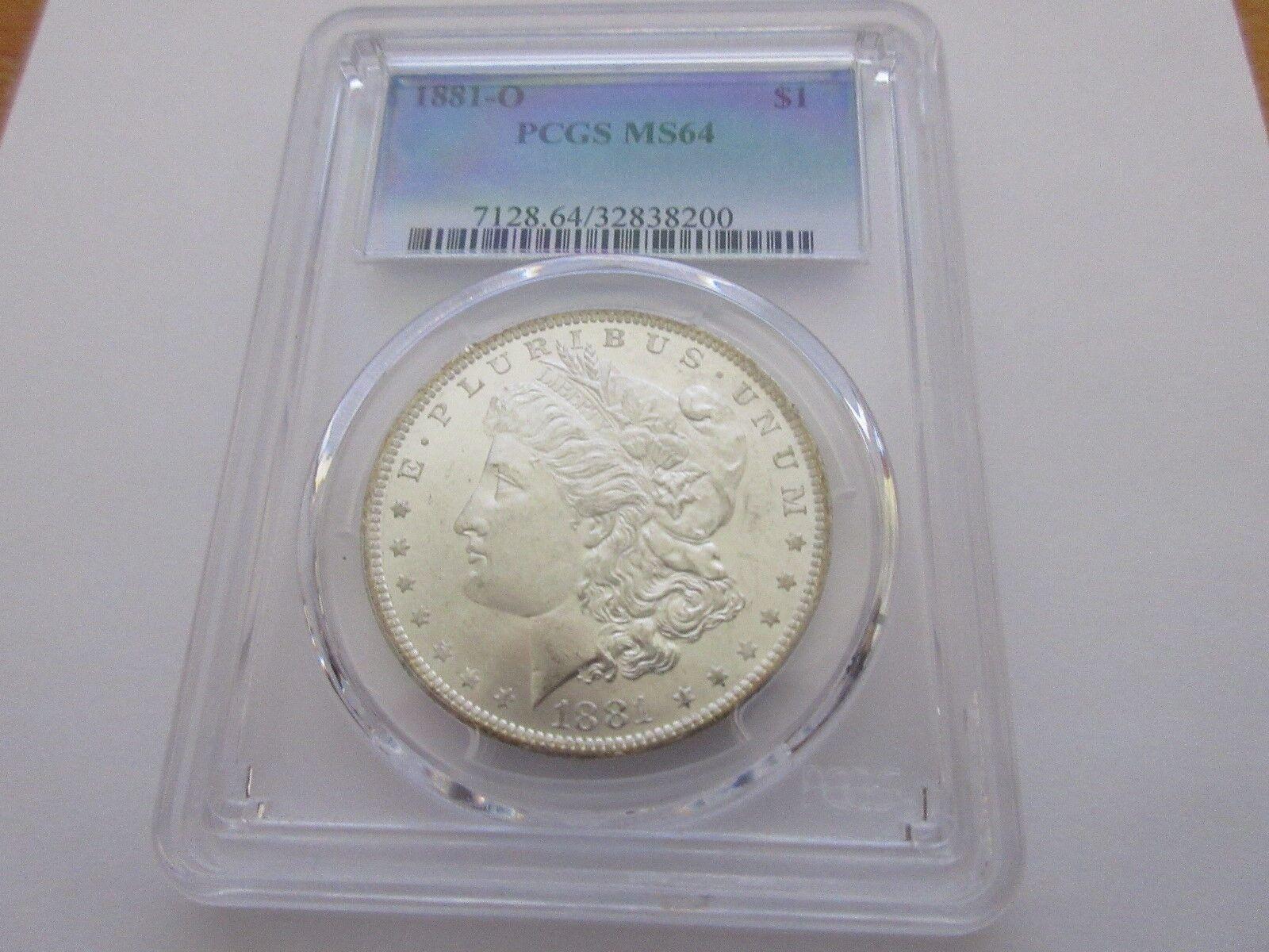 1881-O , Morgan Dollar , PCGS , MS 64