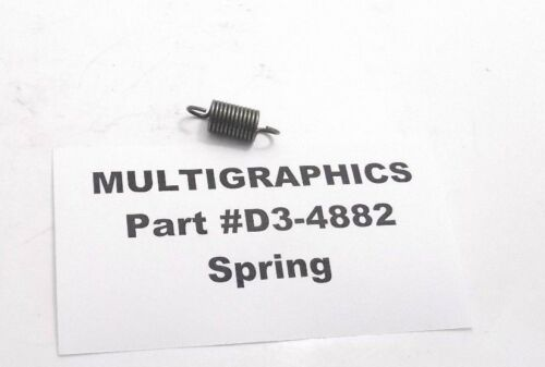 MULTIGRAPHICS D3-4882 Spring Prepaid Shipping