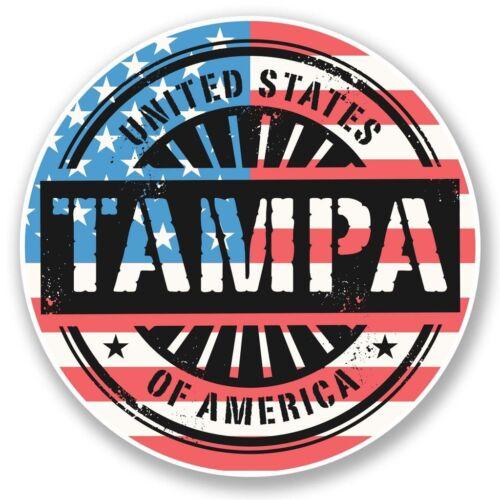2 x Tampa Bay Florida USA Vinyl Sticker Laptop Travel Luggage Car #6073