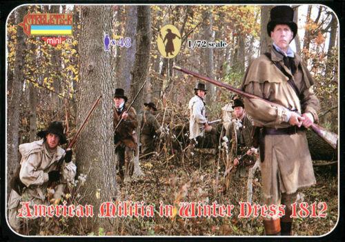American Militia in Winter Dress 1812 MADE RUSSIA STRELETS MINIATURES 1//72