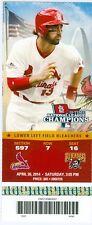 2014 Cardinals vs Pirates Ticket: Jose Tabata 3 hits