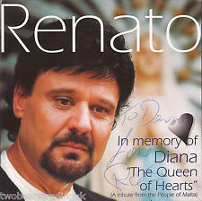 """RENATO - In Memory Of Diana """"The Queen Of Hearts"""" EP (Signed Maltese CD Single)"""