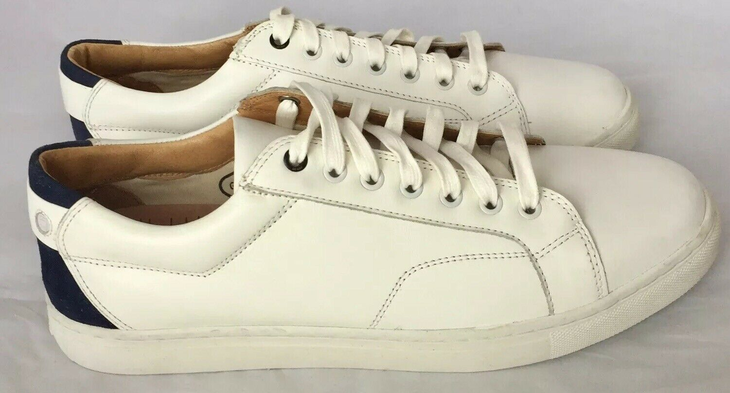 G- Star Raw Men Leather Sneakers White Navy Suede Accent 11