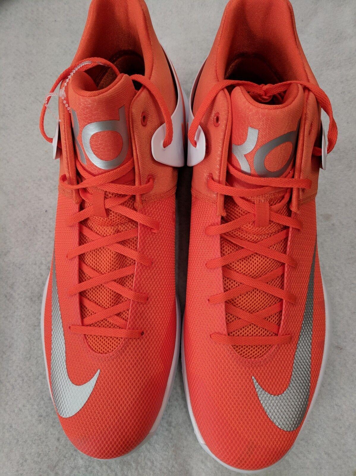 Nike KD Kevin Durant Basketball Shoes Orange White 856484-883 Mens Size 17 Trey5
